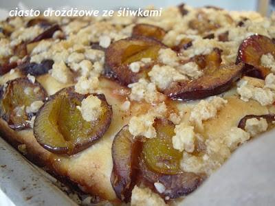 Ciasto drożdżowe teściowej – ze śliwkami