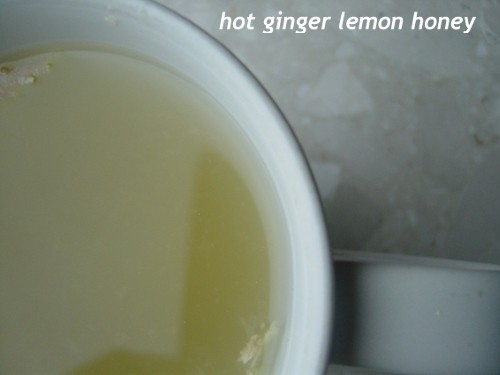 Hot ginger lemon honey