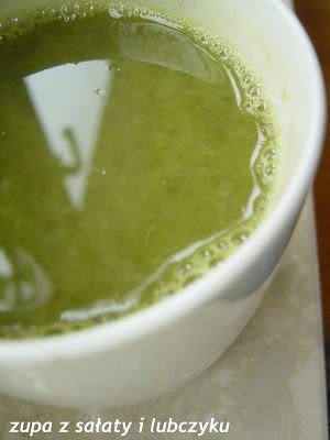 Zupa z sałaty i lubczyku