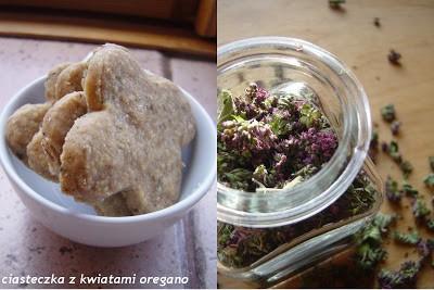 Ciasteczka z kwiatami oregano