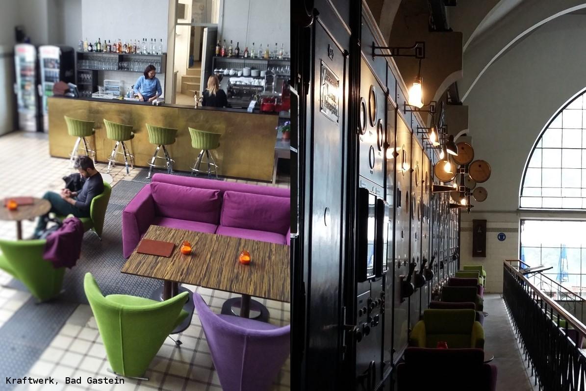Bad Gastein: dwie kawiarnie i restauracja