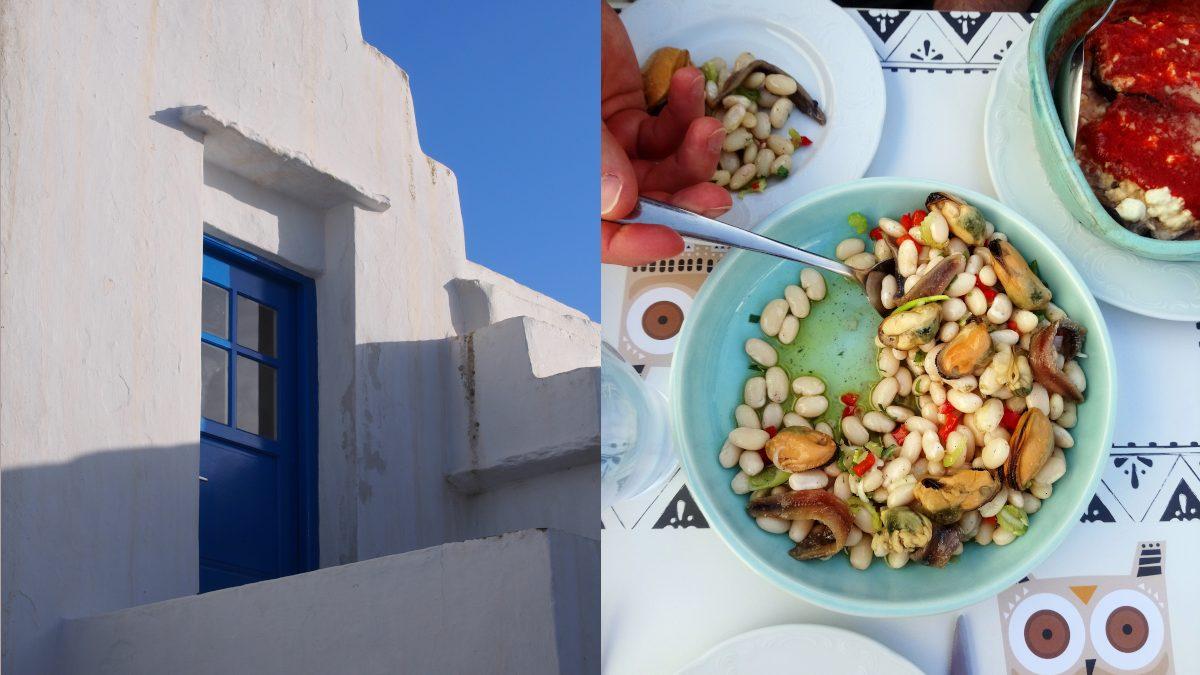 Greckie przekąski i melitzanosalata z kaparami