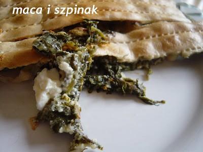 Mina de maza (Sefardyjski placek z macy)