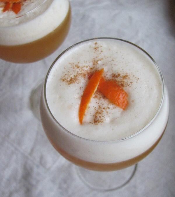 Klementynkowy, korzenny whisky sour