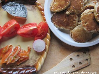 Razowe placuszki serowe (na śniadanie)