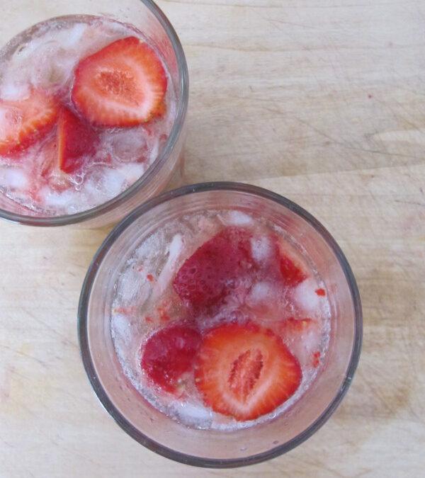 Pijane truskawki, czyli strawberry smash