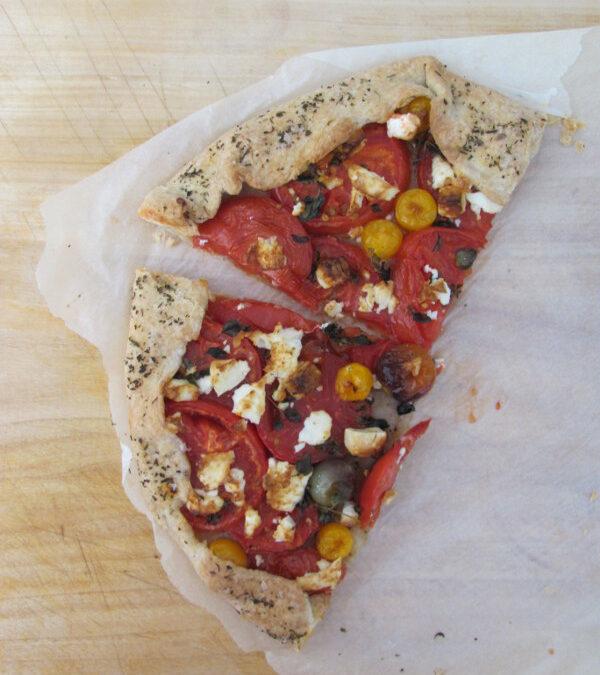 Tarta rustykalna z pomidorami