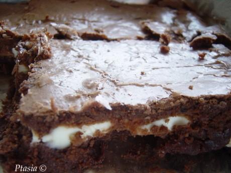 Brownies z serem śmietankowym