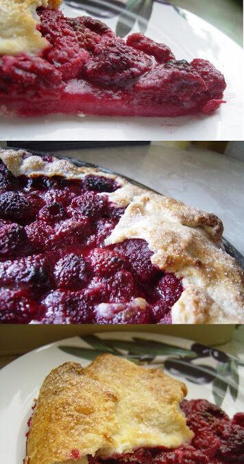 Tarta z malinami (recykling kulinarny)