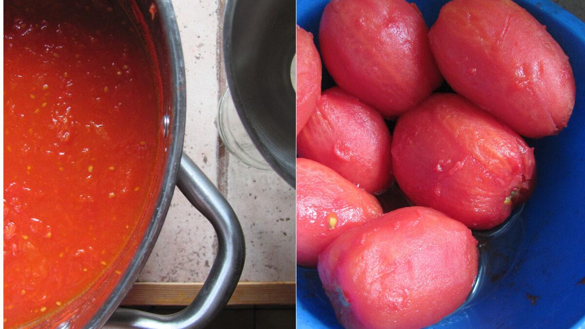 Wrześniowe owoce. Knedle i nocne pomidory
