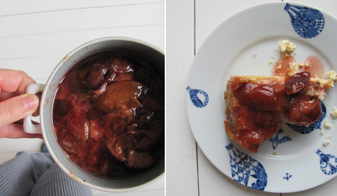 Przypominajka: pieczone śliwki nocne i ser marynowany