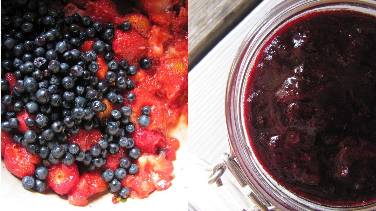 Nowy dżem minimum: truskawki i jagody