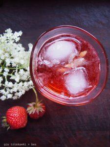 Gin truskawki + bez
